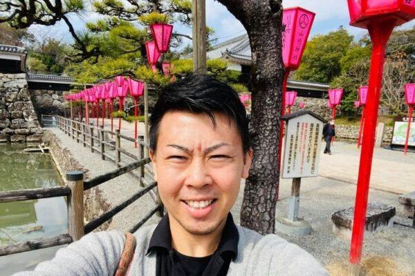 高知城の花灯籠